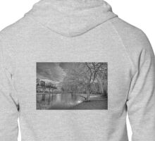 Winter Willow B&W Zipped Hoodie