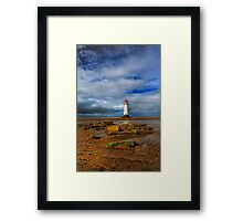 Crooked Lighthouse Framed Print