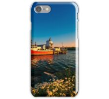 Late in the Day at Fisherman's Cove  iPhone Case/Skin