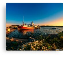 Late in the Day at Fisherman's Cove  Canvas Print