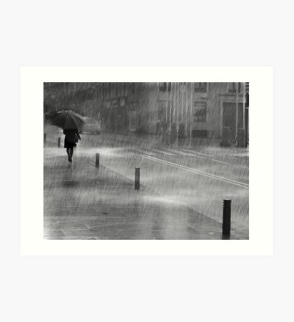 Rainy Urban Evening Art Print