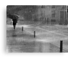 Rainy Urban Evening Canvas Print