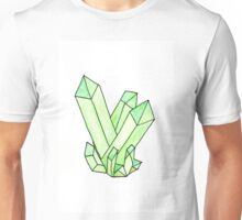 Green Crystal Cluster Unisex T-Shirt