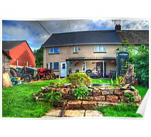 English country garden (complete with tractors) Poster