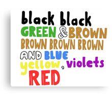 Colours - Grouplove Canvas Print