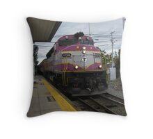 1129 MBTA Commuter Rail Throw Pillow