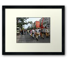 Show and walk! Framed Print