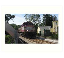1133 MBTA Commuter Rail Art Print