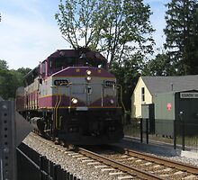 MBTA Commuter Rails and Freight Trains  by Eric Sanford