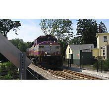 1133 MBTA Commuter Rail Photographic Print