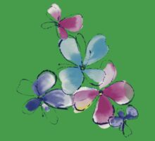 Colorful watercolor flowers Baby Tee