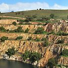 Open cut mine at Burra South Australia by Bryan Cossart