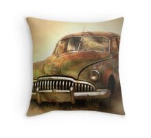 The Old Buick Throw Pillow