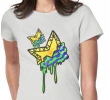 Loving The 80s-Bleeding Star Womens Fitted T-Shirt