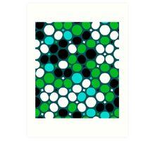 Green polka dot print Art Print
