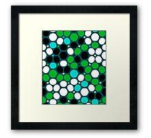 Green polka dot print Framed Print