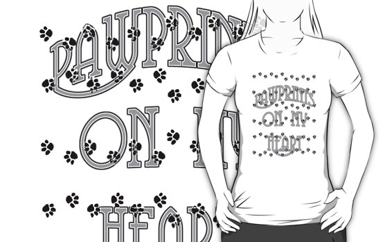 Pawprints on My Heart Tee by Corri Gryting Gutzman