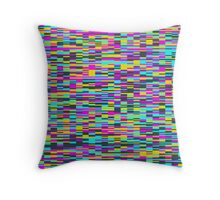 Pixel Storm Throw Pillow