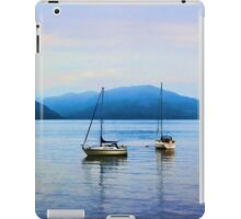 Boats resting on the water in Scotland iPad Case/Skin