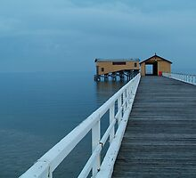 Twilight Mist, Queenscliff Pier by Joe Mortelliti
