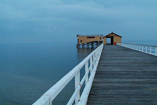 Twilight Mist, Queenscliff Pier by Joe Mortelliti