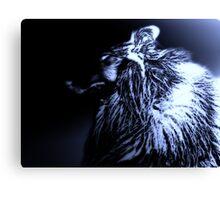 Black & Blue. Werewolf Canvas Print