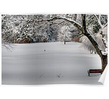 Snow on the 1st Tee Poster
