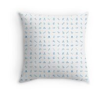 Chevron symbols texture style Throw Pillow