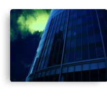 Cityscapes - Blue at Midnight Canvas Print