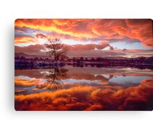 Rolling Thunder Sunset Canvas Print