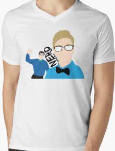 Nerd Vandals Mens V-Neck T-Shirt