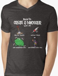 Guide to a Dinosaur Mens V-Neck T-Shirt