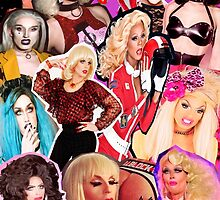 RuPaul's Drag Race Collage ALL PRODUCTS AVAILABLE by wesleepforever