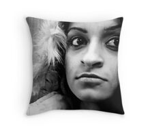 Mischievous intentions Throw Pillow