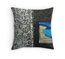 Blue Square-0320 Throw Pillow