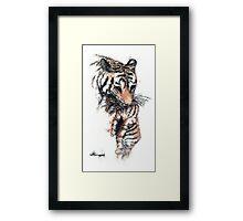 Mother Tiger & Cub Framed Print