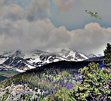 Digital Art, Colorado Rockys by NatureGreeting Cards ©ccwri