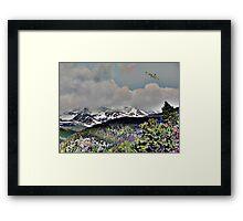 Digital Art, Colorado Rockys Framed Print