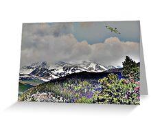 Digital Art, Colorado Rockys Greeting Card