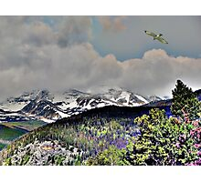 Digital Art, Colorado Rockys Photographic Print