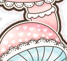 Cute Girly Mushrooms Sticker