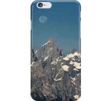 Moon over the Grand Tetons iPhone Case/Skin