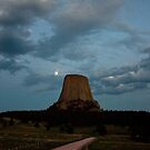 Devils Tower Moon by Daniel Owens