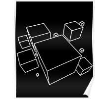 Wireframe Cube 1 Poster