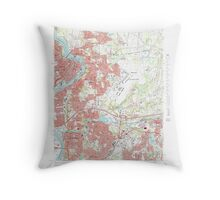 Massachusetts  USGS Historical Topo Map MA Springfield North 351331 1972 25000 Throw Pillow