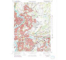 Massachusetts  USGS Historical Topo Map MA Springfield North 351331 1972 25000 Photographic Print