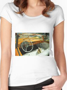 Convertible Interior  Women's Fitted Scoop T-Shirt