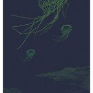 rhymeabout 3 jellyfish in the ndless winter dark cold night by painsugar
