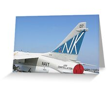 Tail Art - USS Constellation Greeting Card