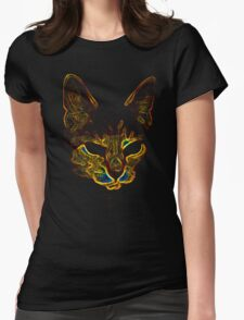 Bad kitty kitty Womens Fitted T-Shirt